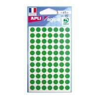 Etikety kruhové 8 mm APLI zelené